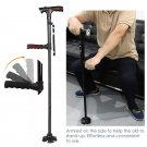Collapsible Telescopic Folding Cane Elder Cane LED Walking Trusty Sticks Great Gifts