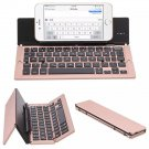 Portable Aluminum Folding Blueteeth Keyboard Foldable Compatible  most of tablets