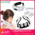 Electric Pulse Neck Massager Far Infrared Heating Cervical Vibration Pain Relief