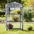 Newest  3-Tier Portable Greenhouse PVC Cover Garden Cover Plants Flower House 126X69X49cm