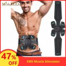 EMS Muscle Stimulator Waist Trainer Health Care Therapy Tens Unit Pads Relax Pain Relief Massage