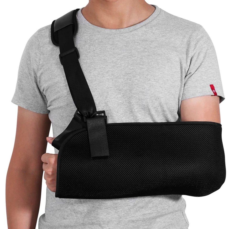 ROSENICE Arm Sling Adjustable Shoulder Immobilizer Wrist Elbow Support Brace for Broken and Fractu