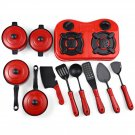 11pcs pack Mini Kitchen Cooking Toys Kitchen Appliance Play Food Toy Set for Kids Red Red