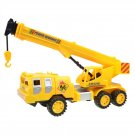 Kids Toy Crane Model Engineering Heavy Crane Truck Vehicle Car Inertia Type Telescopic Yel