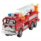 Kids Toy Fire Ladder Car Model Inertia Move 360 Degree Manually Rotated Ladder Telescopic