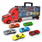DIBANG Toy Set Handheld Truck with 6 Alloy Cars
