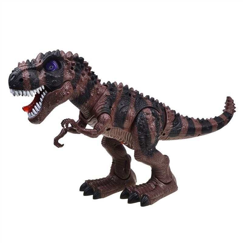 Kids Toy Walking Dinosaur T-Rex Toy Figure With Lights & Sounds Real Movement Green an