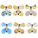 6 pcs Flying Butterfly Wind Up Swallow Tail Butterfly Magic Funny Toy Set