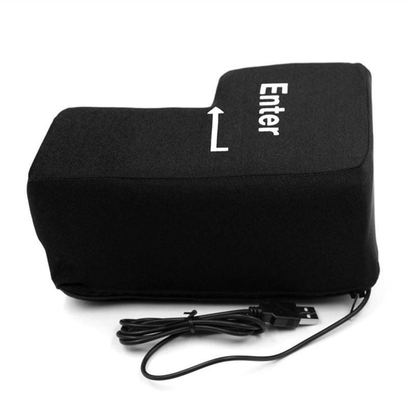 Portable Decompression USB Big Enter Key Return Key Pillow Offices Vent Toys