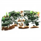 90PCS Plastic Model Playset Toy Soldiers Action Figures Army Men Accessories