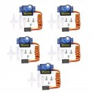 5Pcs 9g Micro Mini Servo Motor Horns for RC Robot Arm Helicopter Airplane CarDescription:T