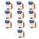10Pcs 9g Micro Mini Servo Motor Horns for RC Robot Arm Helicopter Airplane CarDescription: