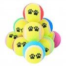 Dog Toy Tennis Balls 6cm Diameter Rubber Dogs Play Supplies Fun Outdoor Sports 5pcs Variou
