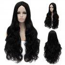 Cosplay Wig Black Long Curly Hair Wig Euramerican Style Black