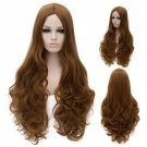 Cosplay Wig Golden Brown  Long Curly Hair Wig Euramerican Style Golden Brown