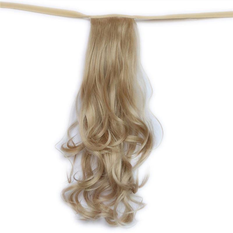 Man Wu Wig Tie On Ponytail Banded Curly Hair Wig 22#