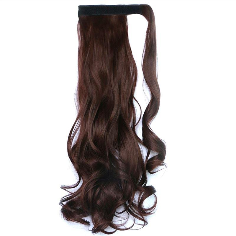 Man Wu Wig Velcro Ponytail Curly Hair Wig 33J