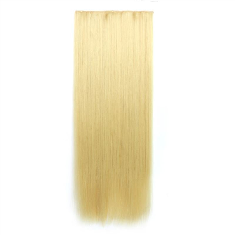 Man Wu Wig Clips Ponytail Long Straight Hair Wig 70cm  Color Number 86#
