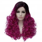 Man Mei Cosplay COS Wig Long Curly Hair for Nightclubs Performance Taking Snapshots Purple