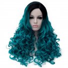 Man Mei Cosplay COS Wig Long Curly Hair for Nightclubs Performance Taking Snapshots Bluish
