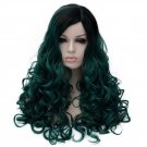 Man Mei Cosplay COS Wig Long Curly Hair for Nightclubs Performance Taking Snapshots Dark G