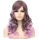 Man Mei Long Curly Hair Wigs A542 LW1460 Gradient Brown to Purple Gradient Brown to Purple