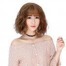 Female Fluffy Hair Wig with Bangs Wigs Natural Looking Wig WS05 F5 Flax Flax