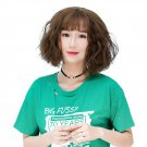 Female Fluffy Hair Wig with Bangs Wigs Natural Looking Wig WS05 F6 Caramel Color Caramel C