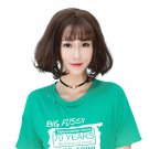 Girls Short Fluffy Hair Wig with Bangs BOBO Wigs Natural Looking Wig WS06 F8 Chocolate Col