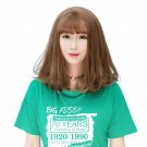 Shoulder-length Hair Wig Wispy Fringes Natural Looking Synthetic Hair Wig WM05 F5 Flax Fla