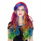 Man Mei COS Wig Halloween Theme Wig A262 LW1405 Long Curly Hair Colorful Colorful