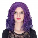 Man Mei COS Wig Halloween Theme Wig A361 SW1892 Short Curly Hair Purple Fading Purple Fadi