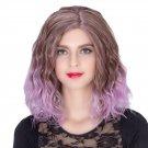 Man Mei COS Wig Halloween Theme Wig A274 SW1885 Short Curly Hair Purple Fading Purple Fadi
