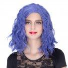 Man Mei COS Wig Halloween Theme Wig A547 SW1901 Short Curly Hair Blue Purple Blue Purple
