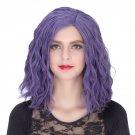 Man Mei COS Wig Halloween Theme Wig A502 SW1899 Short Curly Hair Purple Purple