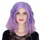 Man Mei COS Wig Halloween Theme Wig A282 SW1887 Short Curly Hair Purple Pink Fading Purple