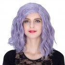 Man Mei COS Wig Halloween Theme Wig A480 SW1898 Short Curly Hair Blue Purple Blue Purple