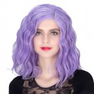 Man Mei COS Wig Halloween Theme Wig A598 SW1902 3815 Short Curly Hair Purple Purple