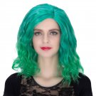 Man Mei COS Wig Halloween Theme Wig A313 SW1890 Short Curly Hair Green Fading Green Fading