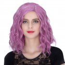 Man Mei COS Wig Halloween Theme Wig A546 SW1900 Short Curly Hair Pink Purple Pink Purple