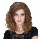 Man Mei COS Wig Halloween Theme Wig A284 SW1888 Short Curly Hair Brown Fading Brown Fading