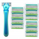 Women Razor Six-layer Blades for Whole Body Hair Removing With 10 Razor Heads