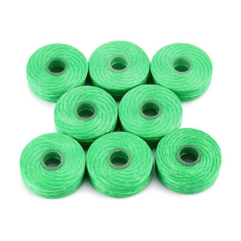 8 Rolls 50m Bamboo Charcoal Dental Flosser Mint Flavor Toothpick Flosser Green