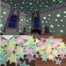 50 pcs 3D Stars Glow In The Dark Wall Stickers Luminous Fluorescent Wall Stickers For Kids Baby Room