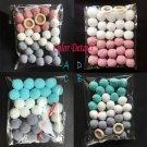 Wool Felt Balls 2cm Handmade Kids Room Wall Home Decor  Color Mix  to Choose