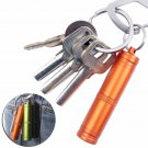 Case Container Holder Emergency First Aid Survival Pill Safety first aid Keychain