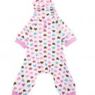 Dog Jumpsuits Overalls Clothes for Dogs Cotton Dog Pajamas Clothes for York  Dear Pink Heart