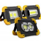 Led Portable Spotlight Led Work Light Rechargeable  Light For Hunting Camping  2 square lights