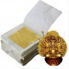 20 Pcs 24K Pure Genuine Edible Gold Leaf Foil Sheet Decor Foil Golden Cover
