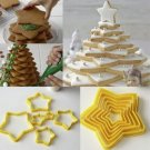 3D Cookie Cutter Five-pointed Star Baking Fondant Cookie Cake Mold 6pcs
